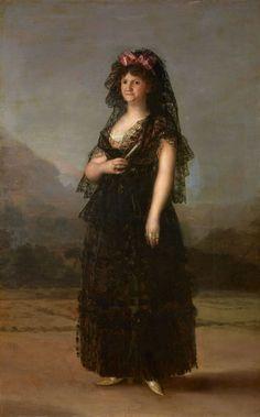 La reina María Luisa de Parma con mantilla Francisco de Goya, 1799 Óleo sobre lienzo, 210 x 130 cm Patrimonio Nacional, Palacio Real de Madrid