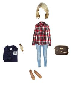 """""""After 5 years of not missing one game my man is officially done with football"""" by nycityprincess ❤ liked on Polyvore featuring Zara, American Eagle Outfitters, Tory Burch, MICHAEL Michael Kors and Michael Kors"""