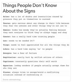 Things You Don't Know About the Signs