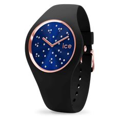 Thanks to its deep blue dial with red details and black contours and its metal link wrist strap, this watch will embellish your wrist with a modern masculine touch. Bracelet Silicone, Swarovski, Color Negra, Deep Blue, Travel Size Products, Watches For Men, Women's Watches, Smart Watch, Bracelets