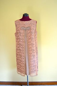 1960s Vintage Sleeveless Lace Party Dress by TabbysVintageShop, $43.95