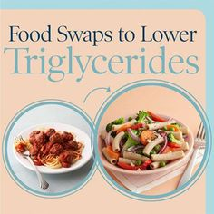 Foods that Lower Triglycerides Almost one in five adults has high triglycerides. Help lower your unhealthy cholesterol numbers the natural way by eating the right foods and making the right choices. Our healthy swaps will get you started. Foods To Lower Triglycerides, Cholesterol Lowering Foods, Cholesterol Levels, Cholesterol Symptoms, Lower Cholesterol Naturally, Food Swap, Heart Healthy Recipes, Calories, Meals For One