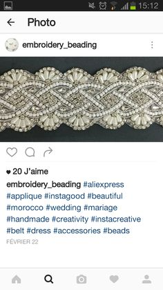 Arabic Jewelry, Pearl Embroidery, Wedding Dress Sash, Ribbon Work, Caftans, Sewing Crafts, Belts, Embellishments, Beading