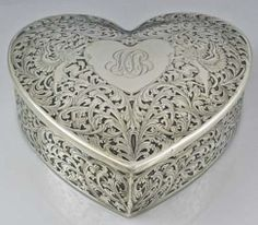 My Husband filled this same personally engraved box with jewelry and surprised me with it! I love him so much, everything else is just a bonus....#luckyinlove Sterling Etched Heart Box