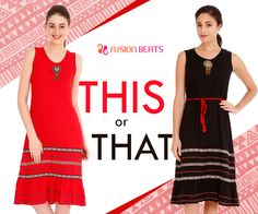 Fiery Red or Regal Black? What will you be? #EarthDeco #FreeSpirit #SS15