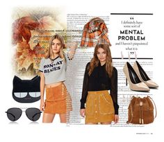"""""""Khaki Suede Skirt"""" by yoyomelody ❤ liked on Polyvore featuring Vince Camuto and The Row"""