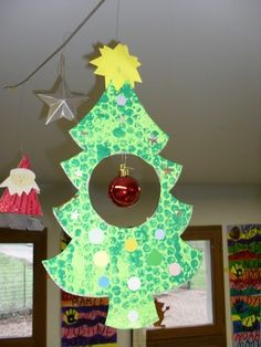 Christmas -bubble wrap tree and ornament