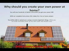"""""""How To Build Your Own Solar Power System To Reduce Your Bill!"""" - http://www.newvistaenergy.com/home-electricity/save-on-electricity/how-to-build-your-own-solar-power-system-to-reduce-your-bill/"""