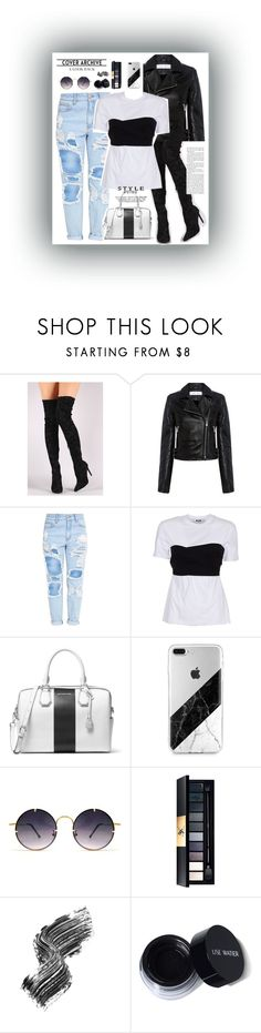 """rock and slay"" by feerubal ❤ liked on Polyvore featuring Liliana, IRO, MSGM, MICHAEL Michael Kors, Spitfire, Illamasqua and blackandwhite"