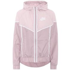 Nike Windrunner Hooded Jacket ($93) ❤ liked on Polyvore featuring jackets, pink and nike