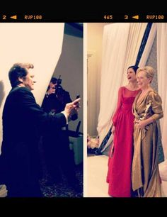 Colin Firth got his own picture of wife Livia Giuggioli with best actress winner Meryl Streep. Meryl Streep, King's Speech, Drape Gowns, Mr Darcy, Colin Firth, Oscar Winners, Best Actress, American Actress, Film Festival