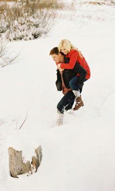 Fun winter engagement