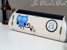 Vinyl Owl Monogram Decal for your Cricut Expression.  I just put put mine on today!