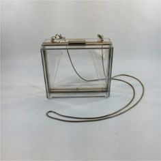 Pink Cosmo Lucite On A String Clear Clutch | Clutches on Sale at Tradesy