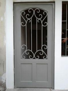 Iron Doors, Iron Gates, Entrance Doors, Garage Doors, Grill Gate, Door Gate Design, Grill Design, Iron Art, Exterior Paint Colors