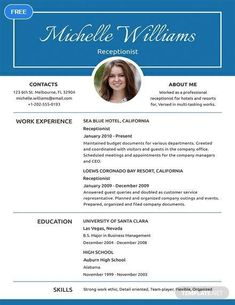Entry Level Medical Receptionist Resume Examples Best Of 5 Medical Receptionist Resume Templates Pdf Doc Job Resume Template, Resume Format, Cv Template, Templates Free, Resume Skills, Resume Tips, Free Resume, Cv Tips, Basic Resume