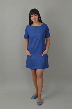b63d3e6e1bfa0c Carnaby - PDF Sewing Pattern. Shift Dress ...
