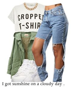 """""""goodmorning"""" by trinityannetrinity ❤ liked on Polyvore featuring River Island and NIKE"""