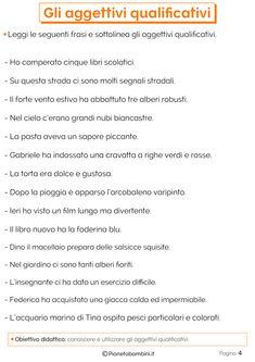 Gli Aggettivi Qualificativi: Esercizi per la Scuola Primaria | PianetaBambini.it