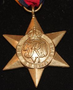 World War II - British Burma Star Medal - c1945