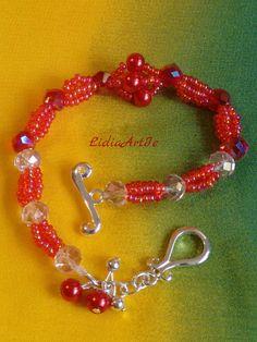 Bracelet with Swarovski crystals.