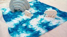 Freie Form Eisscholle Playsilk ~ spielen Mat ~ Hand gefärbt ~ Waldorf inspiriert ~ (Seide, nur Spielzeug nicht inbegriffen)