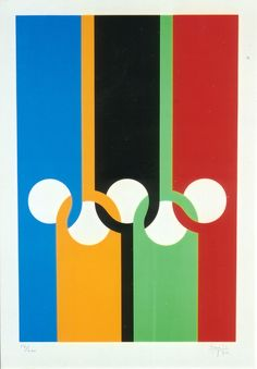 olympic poster by Max Bill (1970) Swiss Design