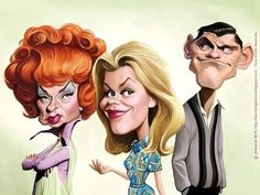 Bewitched caricatures.