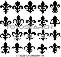 Clipart - fleur de lis symbol . Fotosearch - Search Clip Art, Illustration Murals,