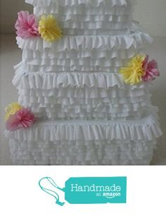 Wedding Cake Card Box Handmade Party Pinata from Pinata Paradise http://www.amazon.com/dp/B0168JVA9Q/ref=hnd_sw_r_pi_dp_qGMexb0RP1BWW #handmadeatamazon