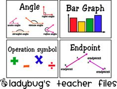 Math Vocabulary Cards: Wonderful cards for elementary (even Middle School) math studies.