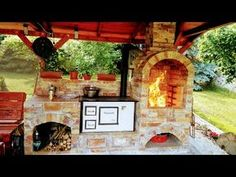 Outdoor Grill Area, Pergola, House Design, Rustic, House Styles, Ideas, Kitchen, Plants, Home Decor