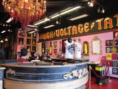High Voltage tattoo Los Angeles. Couldn't go all the way to LA and not get a tatt.  This is the Kat Von D's shop. We missed out on seeing her. We got our tattoos done by Dennis Halbritter and Jeff Ward. both did fantastic art work.