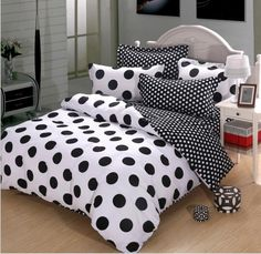 Stylish Black And White Polka Dot Sheets Idea – Themsfly
