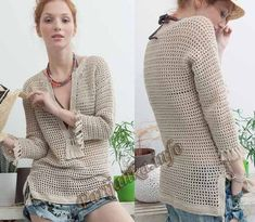 Crochet blouse with schemes