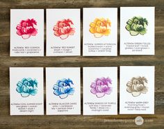Altenew Inks Video by Jennifer McGuire Ink | new colours april 2016