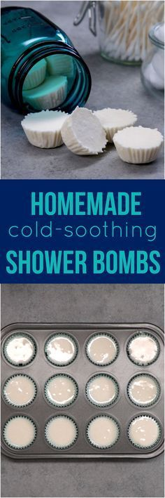 Stuffed up? Pop one of these easy-to-make vapor bombs into the shower--as it melts, it turns your shower into a soothing steam room & helps relieve congestion.