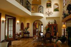 mediterranean decor photo: spanish-style-home-interior-living-room. Spanish Style Interiors, Home Decor Styles, House Design, House, Spanish Interior Design, House Interior, Interior Design Styles, Home Interior Design, Minimalist Home