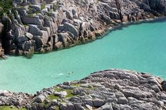 Wild Swimming on the Isle of Mull, Scotland. Fidden beach and campsite