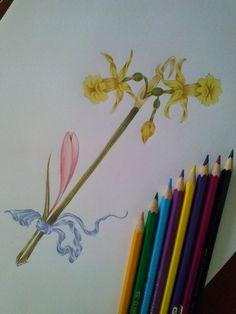 kuru kalemlerle olan çiçek taramam