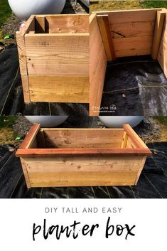 Building a DIY Tall Planter Box is really easy and much cheaper than buying one. With a few supplies, you can get it done a few hours. via @longbournfarm Tall Planter Boxes, Tall Planters, Trim Board, Skill Saw, Hobby Farms, Grow Your Own Food, Country Farm, Wood Species, Easy Projects