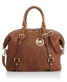 MICHAEL Michael Kors Handbag, Bedford Ostrich Satchel