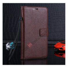 Luxury Flip Wallet Stand Leather Case For Samsung Galaxy Note 3 III N9000 With Card Holder - Dark Brown US$11.69