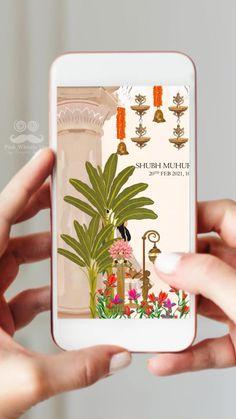 Indian Wedding Invitation Cards, Wedding Invitation Video, Wedding Invitation Card Design, Country Wedding Invitations, Handmade Wedding Invitations, Wedding Card Design Indian, Indian Wedding Cards, Wedding Logos, Diy Wedding Decorations