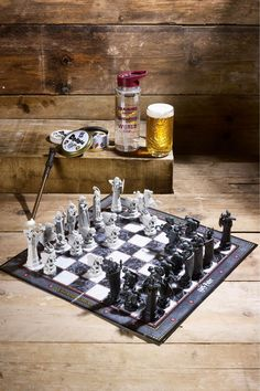 Mens Harry Potter Chess Set -  Grey