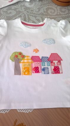Camiseta casitas # patchwork