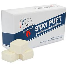 Stay Puft Gourmet Caffeinated Marshmallows- If you don't know what movie this pertains to, then what the heck have you been doing all these years?