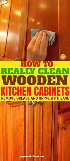 How to remove grease from your kitchen cabinets - Cabinet - Ideas of Cabinet - How to clean and remove crease from your wooden kitchen cabinets. How to clean your wooden kitchen cabinets without damaging the woos surface. Cleaning Plan, Deep Cleaning Tips, Toilet Cleaning, House Cleaning Tips, Diy Cleaning Products, Cleaning Solutions, Spring Cleaning, Cleaning Hacks, Diy Hacks