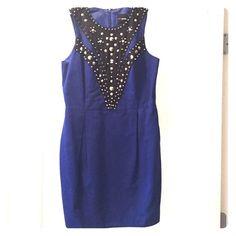 Asos Cobalt Studded Dress