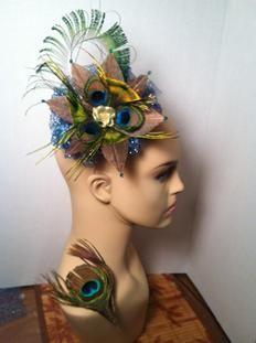 Wonderful Peacock fascinator hat